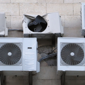 Several air conditioners and one of them is broken